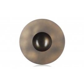assiette sphère vibrato doré 2 - solid