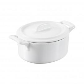 cocotte 25cl et couvercle à anse pleine en porcelaine - belle cuisine