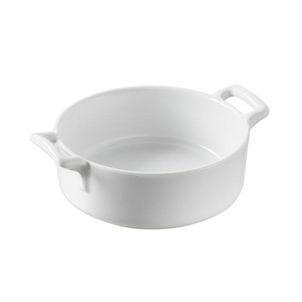 plat rond profond en porcelaine blanche - belle cuisine