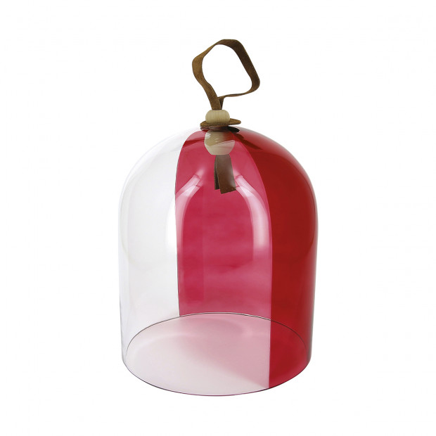 cloche bicolore en verre et socle - inspired, by revol
