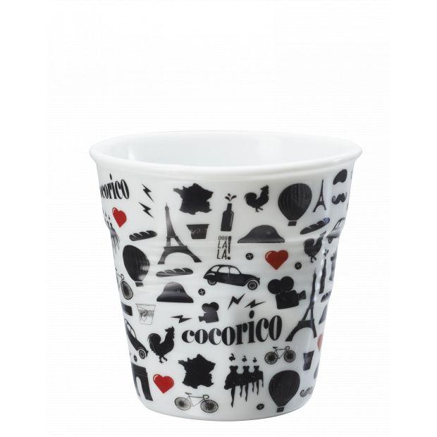 Froissé espresso décoré Cocorico