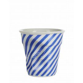 Froissé espresso décoré Berlingot bleu