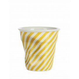 Froissé espresso décoré Berlingot jaune