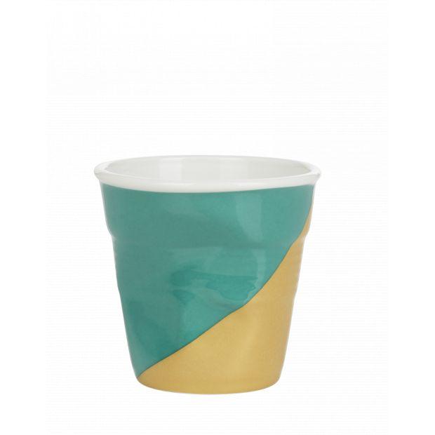 Froissé espresso décoré Twist green up