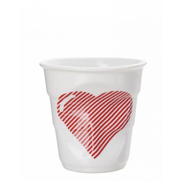 Froissé cappuccino décoré Coeur