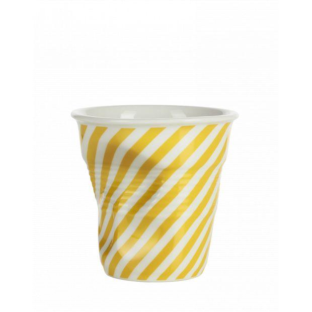 Froissé cappuccino décoré Berlingot jaune