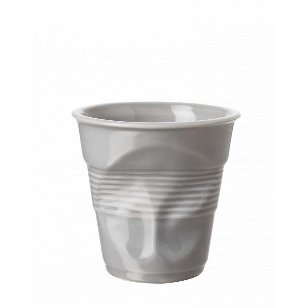 Froissé cappuccino uni Gris