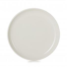 Assiette plate colorée en porcelaine - Ivoire