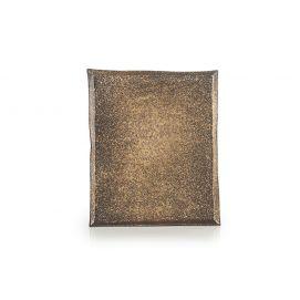 Assiette rectangulaire - Cosmos Gold