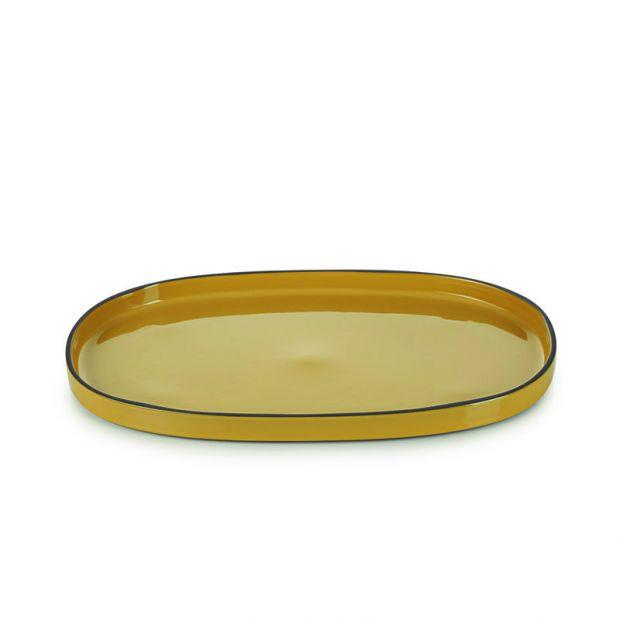 Assiette ovale Caractère 35 cm Curcuma