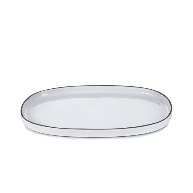 Plat ovale Caractère Blanc Cumulus