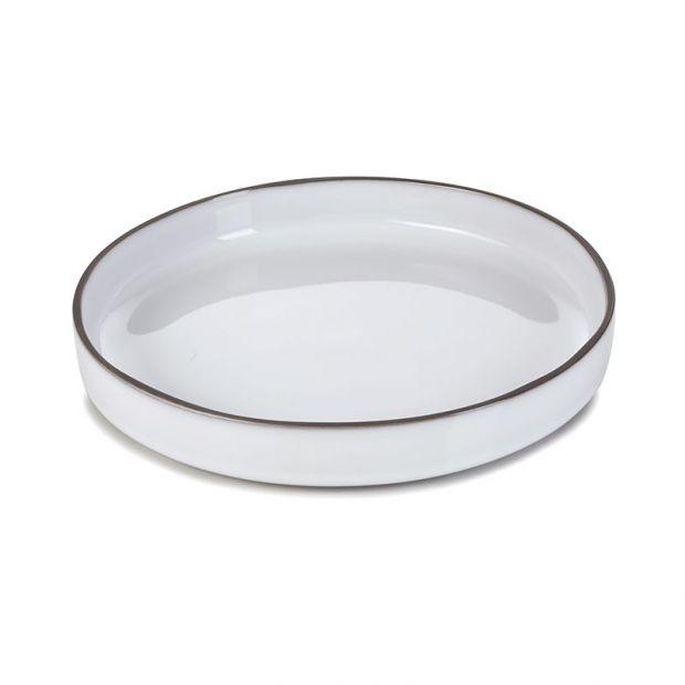 Assiette gourmande Caractère 23 cm Blanc Cumulus