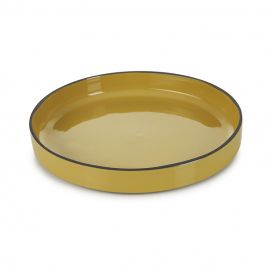 Assiette gourmande Caractère 23 cm Curcuma