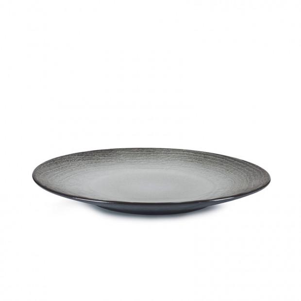 Assiette plate - Black Sand