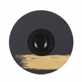 assiette sphère tempo or 1 - solid