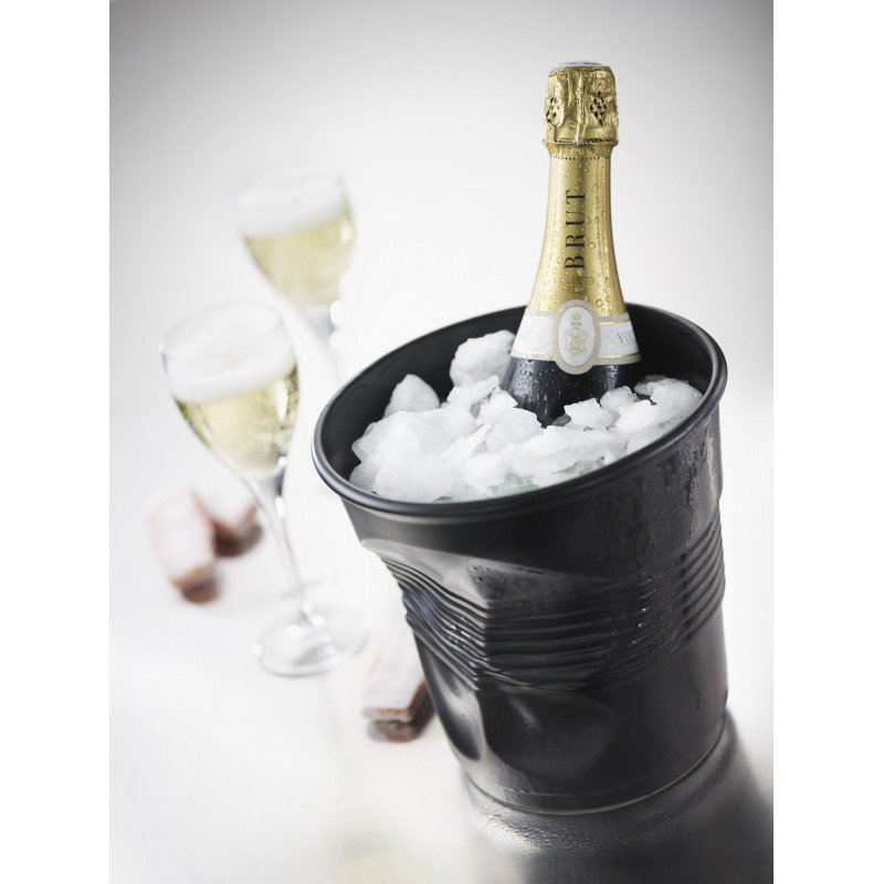 seau champagne froiss en porcelaine. Black Bedroom Furniture Sets. Home Design Ideas
