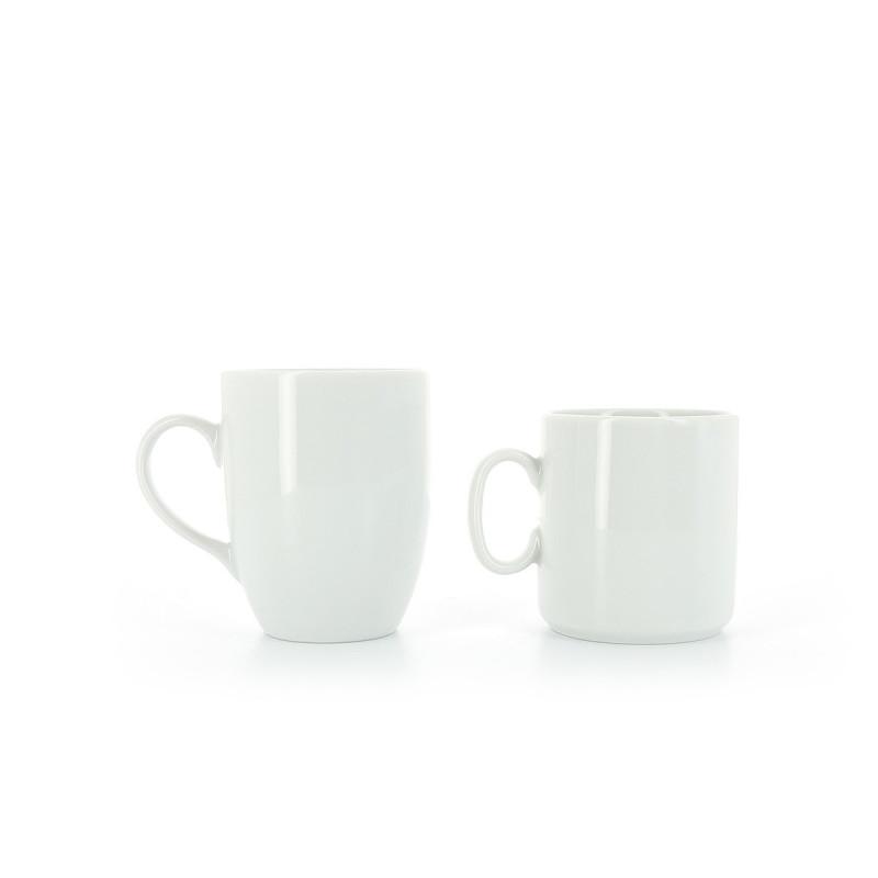 mug en porcelaine blanche. Black Bedroom Furniture Sets. Home Design Ideas