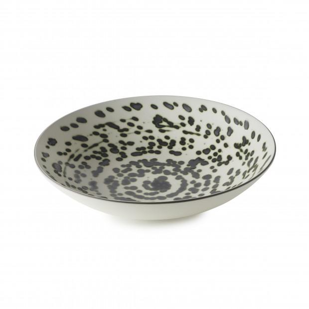 Assiette Coupe en Porcelaine Fond plat Equinoxe Edition Collector - Rainforest - 1L & 1,3L