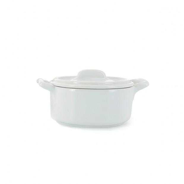 Cocotte ronde en porcelaine avec couvercle