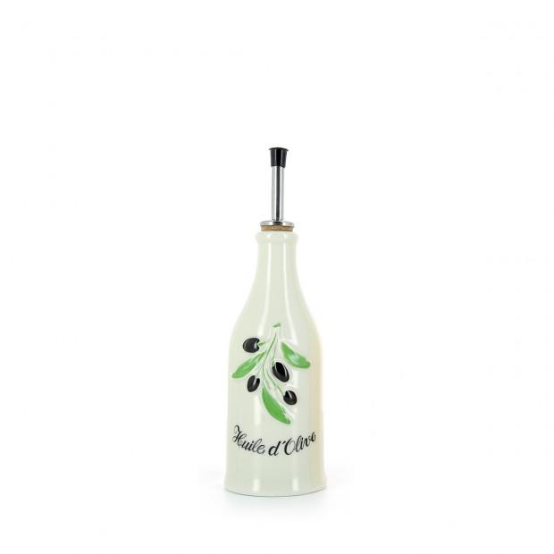 Bouteille huile d'olive Provence en porcelaine 25 cl