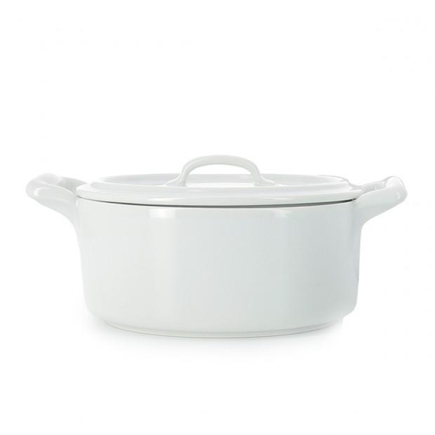 Cocotte en porcelaine avec couvercle