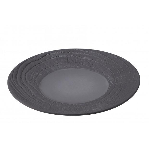 Flat wood-effect porcelain plat- Liquorice