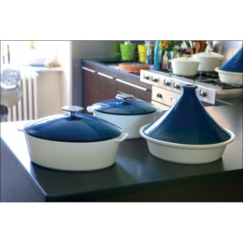 Oval Casserole Dish In Ceramics Induction Touareg Blue
