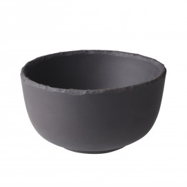 Slate-effect ceramic bowl