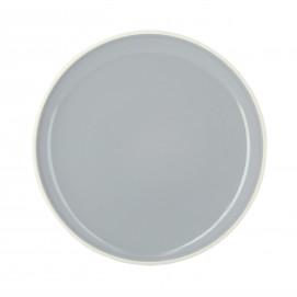 Coloured porcelain flat plate - Stratus Grey