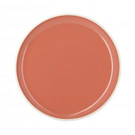 Coloured porcelain flat plate - Capucine Orange