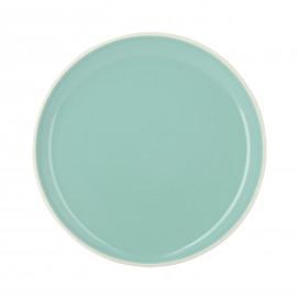 Coloured porcelain flat plate - Celadon Green