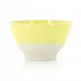 Coloured porcelain bowl - Citrus Yellow