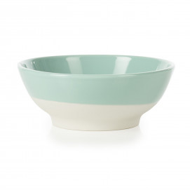 small coloured porcelain cereal bowl - Celadon Green
