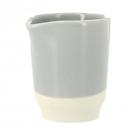 Coloured porcelain milk jug - Stratus Grey