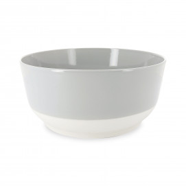Coloured porcelain salad bowl - Stratus Grey