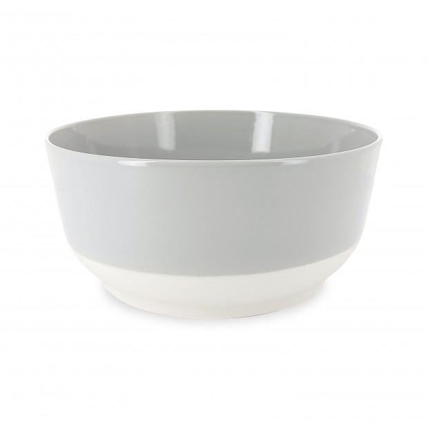 Coloured porcelain salad bowl - Stratus Grey