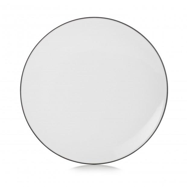 Flat ceramic plate - Cumulus White