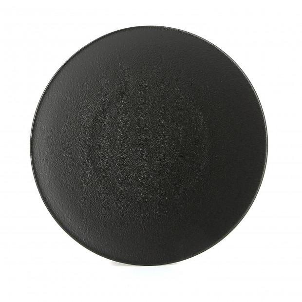 Flat ceramic plate - Cast iron style