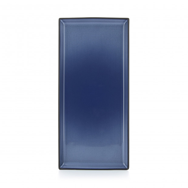 Rectangular ceramic plate - Cirrus Blue