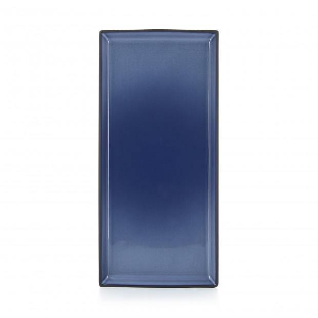 Rectangular ceramic plate - Cirrus Blue