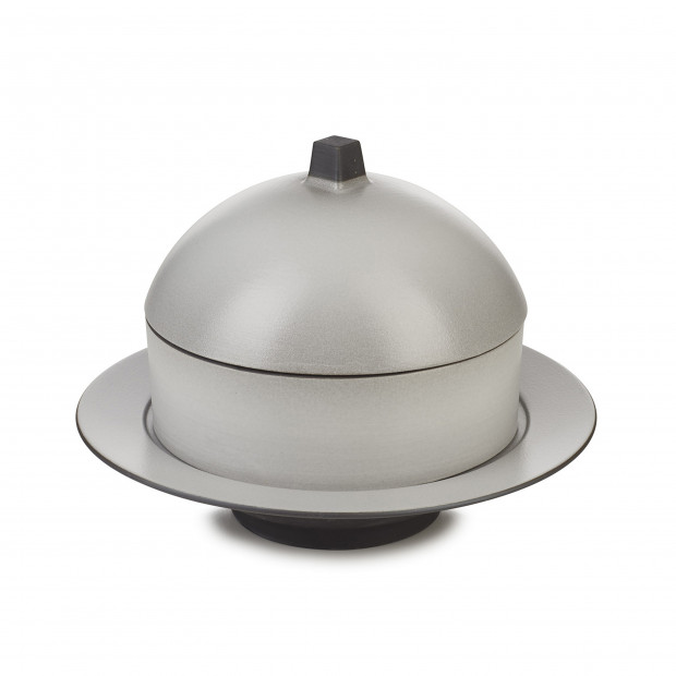 Dim Sum basket set with lid and ceramic plate - Pepper
