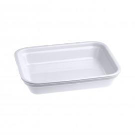 Rectangular dish in porcelain - White