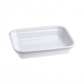 Rectangular dish in porcelain - White