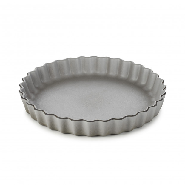 Round porcelain pie dish - Pepper