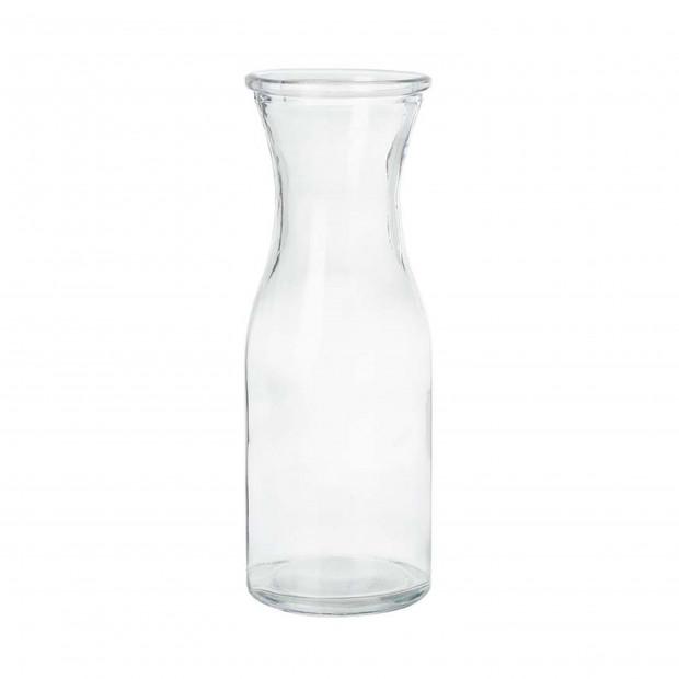 Large, individual glass bottle