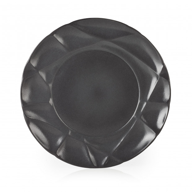 Porcelain flat plate - Black