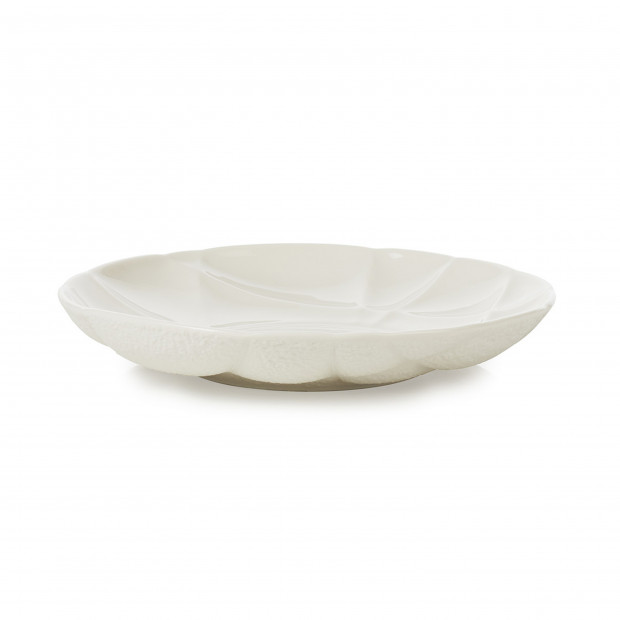 Porcelain deep plate - White
