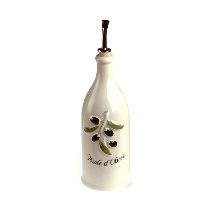 Porcelain Olive Oil Bottle Provence Style