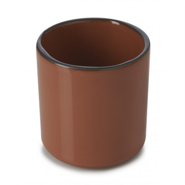 Porcelain cup Caractère Cinnamon