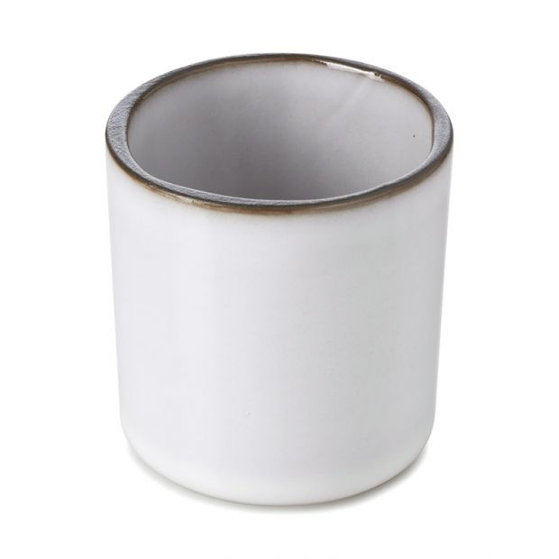 ceramic cup Caractère White cumulus
